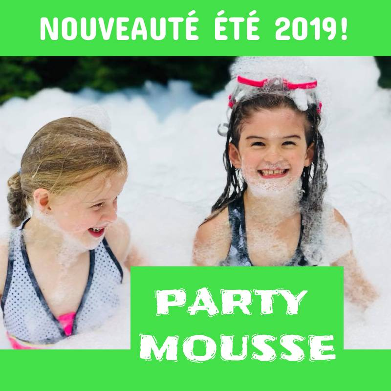 PARTY MOUSSE à partir de 250$/jour +tx.